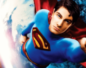 image of flying Superman in Superman Returns